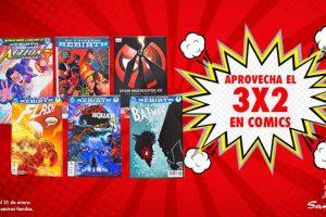 Sanborns 3x2 en comics y 50% de descuento + 25% adicional en juguetes