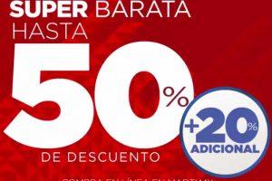 Super Barata Deportiva Martí 2018: Rebajas 50% de descuento + 20% adicional