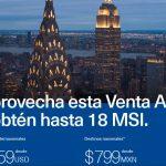 Venta Azul Aeroméxico del 15 al 21 de enero de 2018
