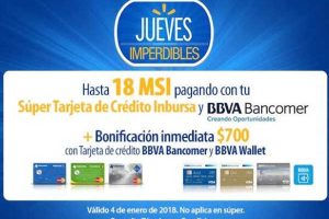 Walmart Bonificación de $700 y hasta 18 MSI con Bancomer e Inbursa