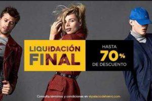 El Palacio de Hierro Ofertas Liquidación Final 70% de descuento en ropa calzado