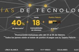 Palacio de Hierro Ofertas 5 días de Tecnología con hasta 40% de descuento