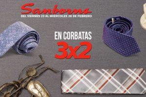 Sanborns 3x2 en corbatas y hasta 40% de descuento en cosméticos