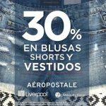 Aéropostale 30% de descuento en Liverpool y Fábricas de Francia