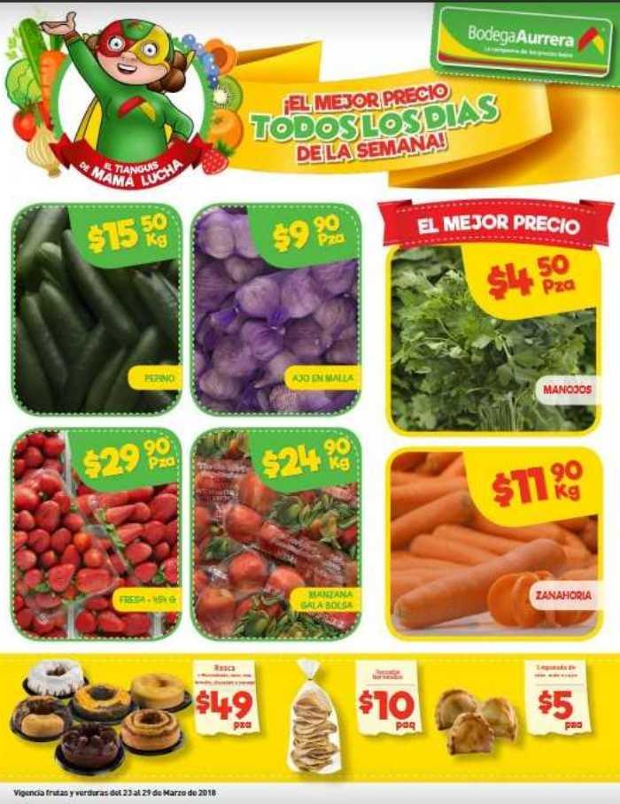 Bodega Aurrera: frutas y verduras tianguis de mamá lucha al 29 de Marzo 2018