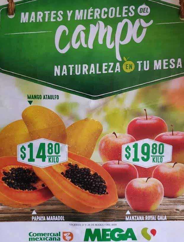 Comercial Mexicana: frutas y verduras del campo 27 y 28 de marzo 2018