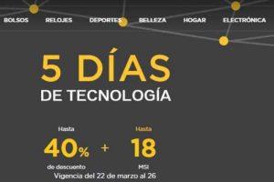 Palacio de Hierro 5 Días de Tecnología con Hasta 40% de descuento