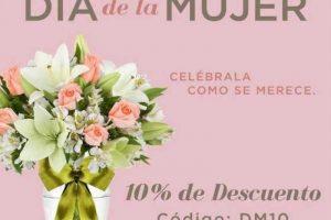 Envía Flores Día de la mujer 10% de descuento en toda la tienda