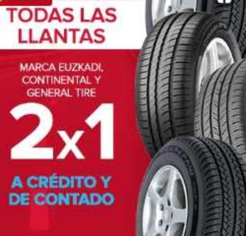 Famsa: 2×1 en llantas Euzkadi, Continental y General Tire
