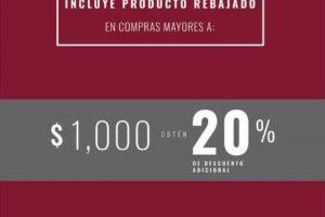 LOB Hasta 20% de descuento a lo ya rebajado en toda la tienda