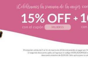 Petsy Semana de la Mujer: 15% de descuento + 10% adicional con Mercado Pago