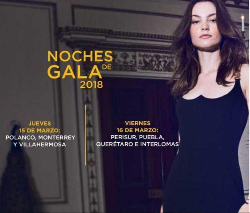 Palacio de Hierro: Noches de Gala del 15 al 22 de marzo 2018