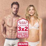 Sears 3×2 en ropa interior para toda la familia del 15 al 25 de marzo 2018