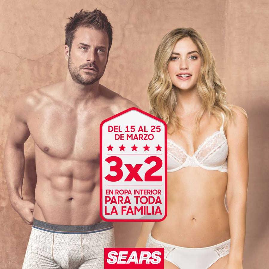 Sears: 3×2 en ropa interior para toda la familia del 15 al 25 de marzo 2018