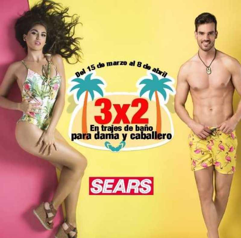 Sears: 3×2 en trajes de baño del 15 de marzo al 8 de abril de 2018