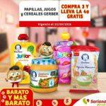 Soriana Mercado 4x3 en papillas y cereales Gerber