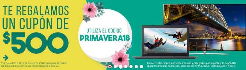Soriana: Te Regala cupón de $500 pesos en compras online