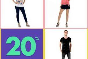 Suburbia 20% de descuento en playeras, bermudas, capris y shorts