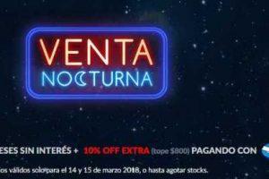 Venta Nocturna Lenovo 14 y 15 de marzo del 2018