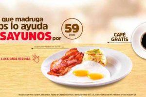 Vips Desayunos por $59 + Café Gratis al 28 de marzo