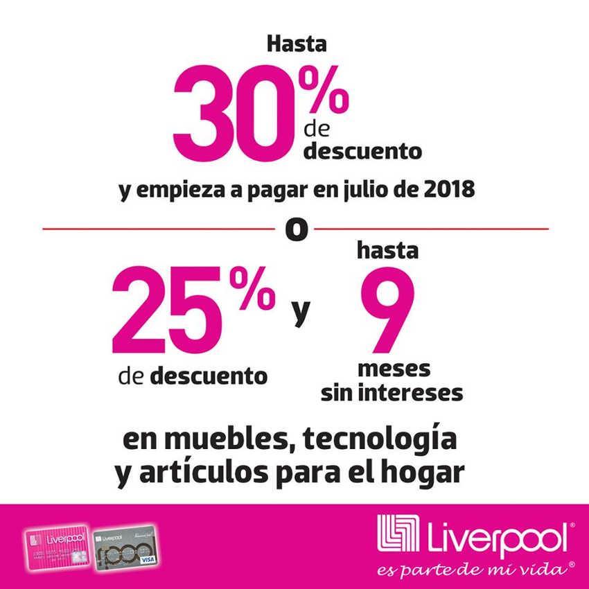 9f263d85c Viva Bonito Liverpool  30% de descuento en Muebles