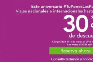 Volaris Promoción aniversario 30% de descuento en viajes nacionales e internacionales