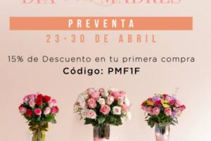 Enviaflores Cupón Día de las Madres 15% de descuento en tu primera compra