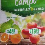 Comercial Mexicana frutas y verduras del campo 10 y 11 de abril 2018