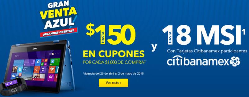 Best Buy: Gran Venta Azul del 26 de abril al 2 de mayo 2018