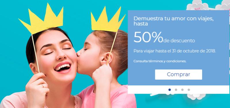 Interjet: ofertas Dia de las Madres hasta 50% de descuento en vuelos nacionales e internacionales
