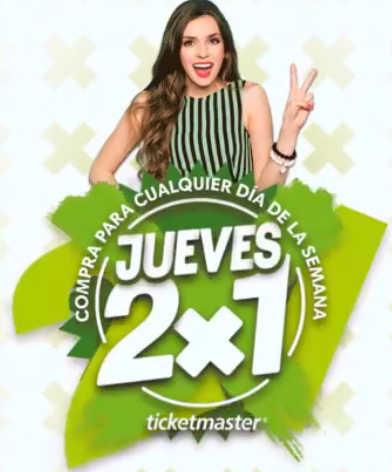 Jueves de 2×1 en Ticketmaster 05 de Abril de 2018