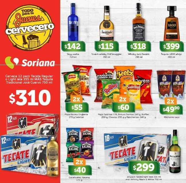 Jueves Cervecero Soriana 12 de abril del 2018