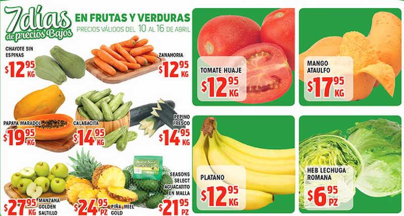 HEB: Frutas y Verduras del 10 al 16 de Abril de 2018
