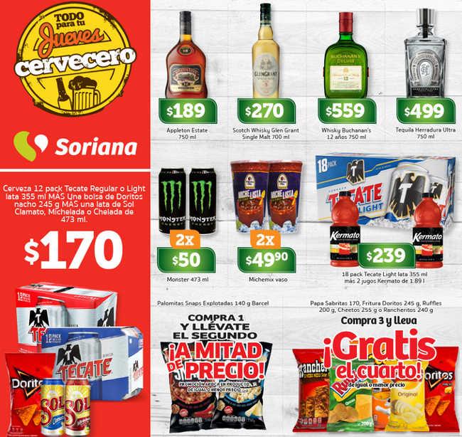 Ofertas Jueves Cervecero Soriana 19 De Abril 2018