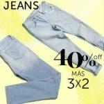 Osom 40% de descuento y 3×2 en jeans al 30 de abril