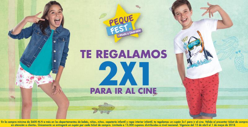 Promoción Peque Fest 2018 Suburbia: cupón 2×1 en cine y playeras desde $45
