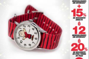 Promoción día del niño en Sears 9 MSI + 15% de descuento en relojería