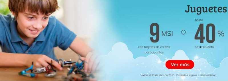 Sanborns: 40% de descuento y 9MSI en juguetes al 30 de abril
