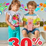 Soriana30% de descuento en toda la ropa exterior e interior para niños