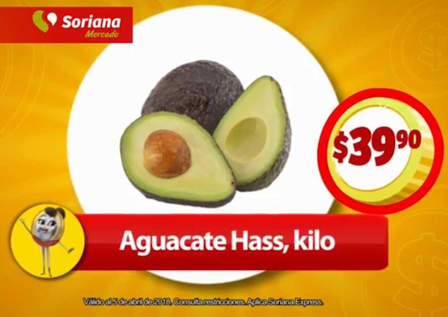 Soriana Mercado: Frutas y Verduras del 3 al 5 de Abril 2018