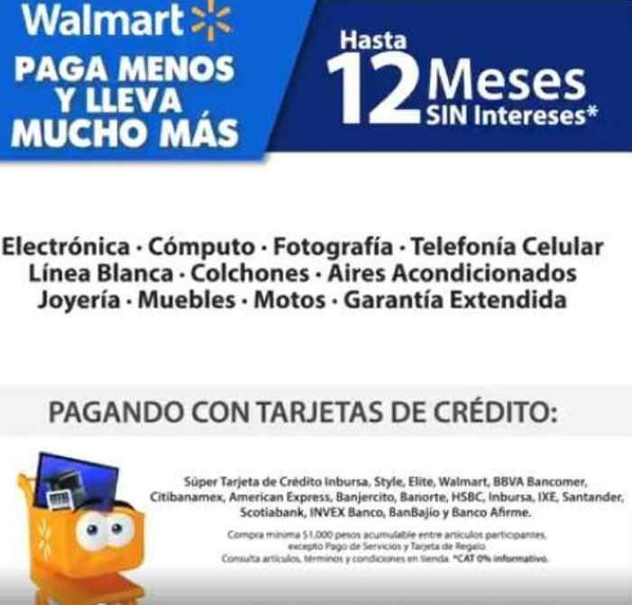 Walmart: 12 MSI en tecnología, celulares, joyería al 30 de abril