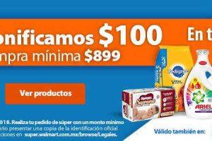 Walmart bonificación de $100 en tu primer pedido y envió GRATIS
