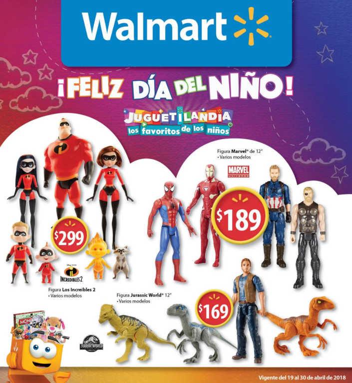 Walmart: folleto de ofertas feliz día del niño del 19 al 30 de abril 2018