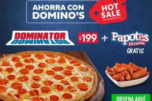 Promociones Hot Sale 2018 en Dominos Pizza