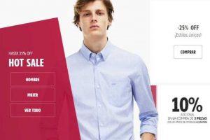 Promociones Hot Sale 2018 en Lacoste