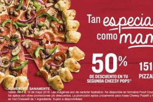 Pizza Hut 50% de descuento en segunda Pizza Cheesy Pops