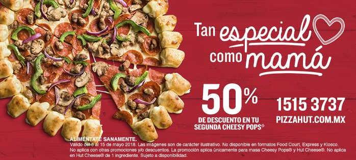 Pizza Hut: 50% de descuento en segunda Pizza Cheesy Pops