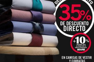 Sears: 35% de descuento en camisas y corbatas para Caballeros