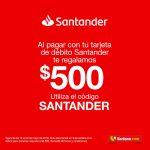 Soriana Cupón $500 de regalo pagando con tarjetas Santander