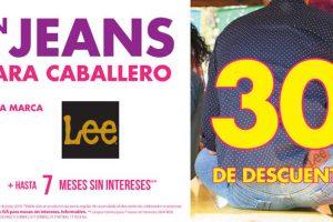 Suburbia: 30% de descuento en jeans para caballero Lee